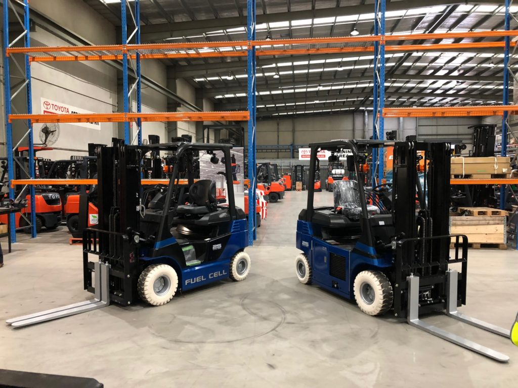 Toyota Fuel Cell Forklifts