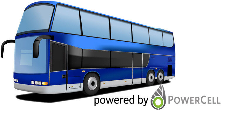 Powercell Fuel Cell Bus