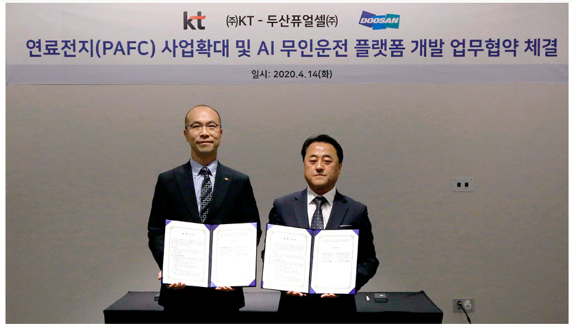 Doosan Fuel Cell and KT Sign Fuel Cell Agreement
