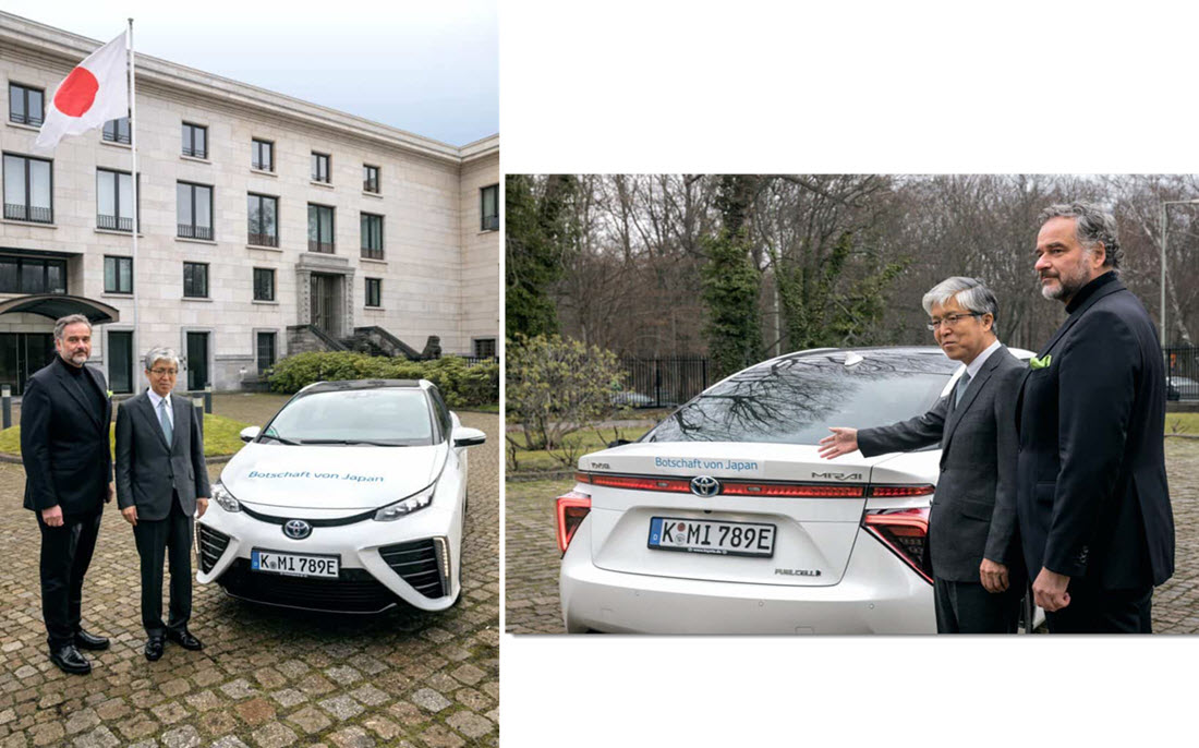 Japan Embassy Hydrogen Fuel Cell Mirai Main
