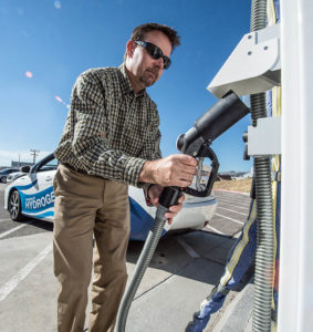 NREL research fueling big rigs hydrogen vehicles wipke esif grips nozzle