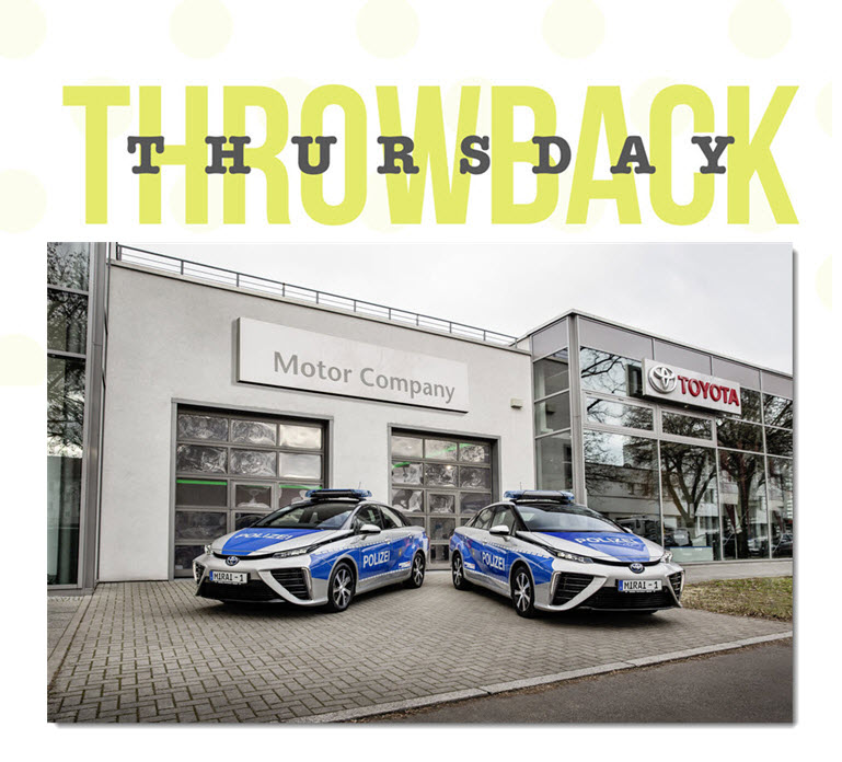 Throwback Thursday German Police Use Fuel Cell Toyoto Mirai