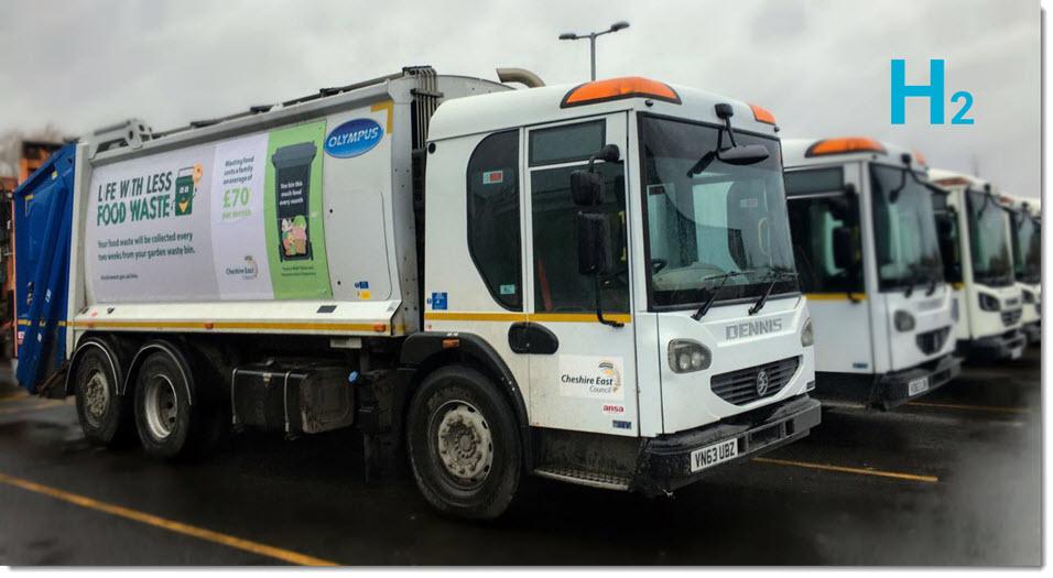 Cheshire Hydrogen Garbage Trucks Trial 1
