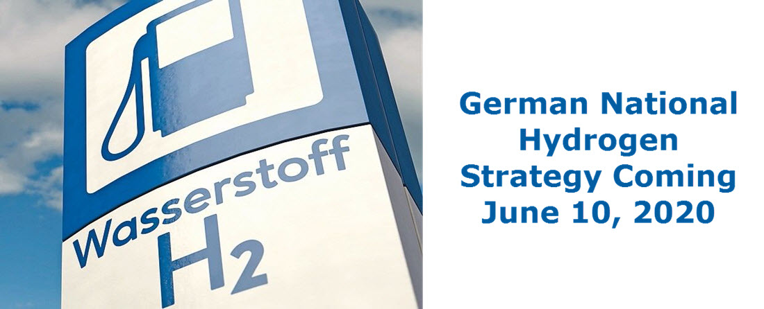 German Hydrogen Strategy Coming