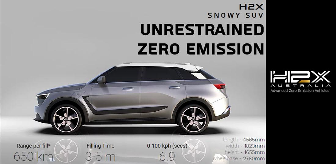 H2X Hydorgen Fuel Cell SUV