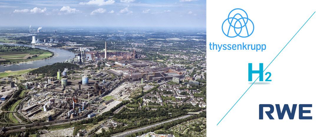 thyssenkrupp Steel plant Duisburg RWE TW