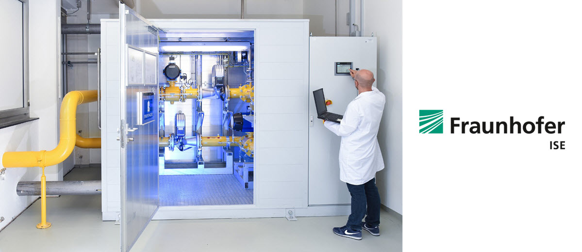 Fraunhofer ISE test facility for feeding hydrogen into the natural gas network Main