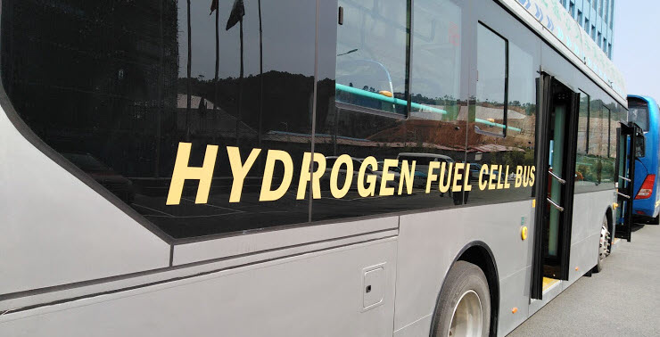Hydrogen Fuel Cell Bus Small