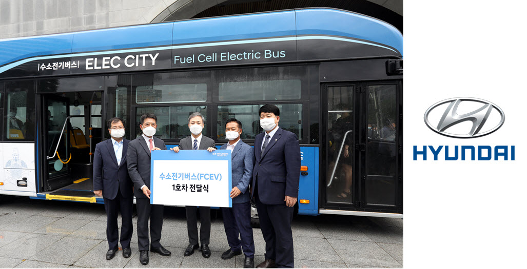 Hyundai Delivers First Hydrogen Bus 1