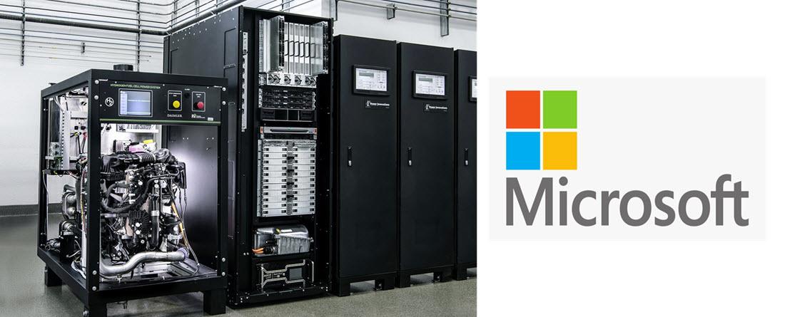 Microsoft Fuel Cell Servers