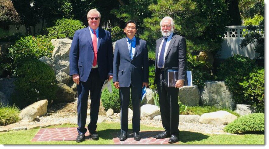 Parris meets Japan officials