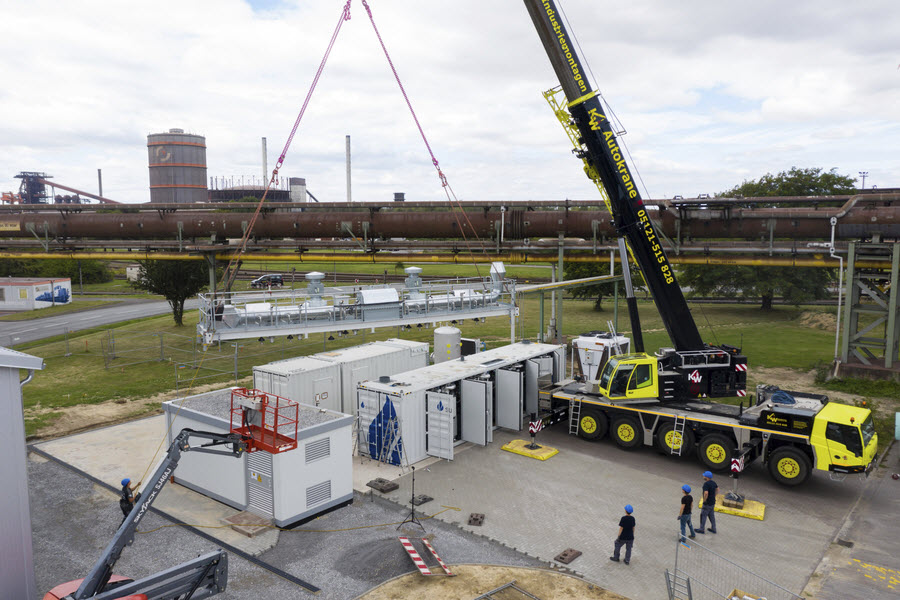 Sunfire Delivers the Worlds Largest High Temperature Electrolyser to Salzgitter Flachstahl
