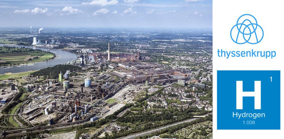 thyssenkrupp Steel plant Duisburg Hydrogen