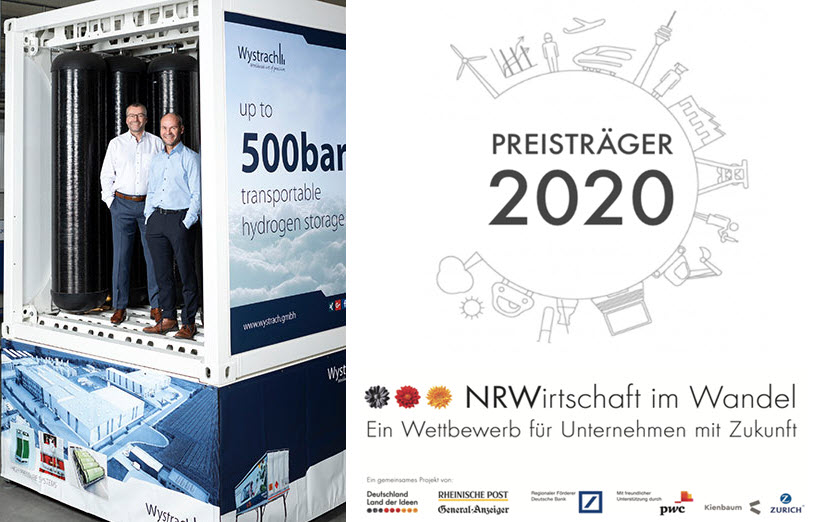 wystrach h2 tanksystem winner of NRW Award