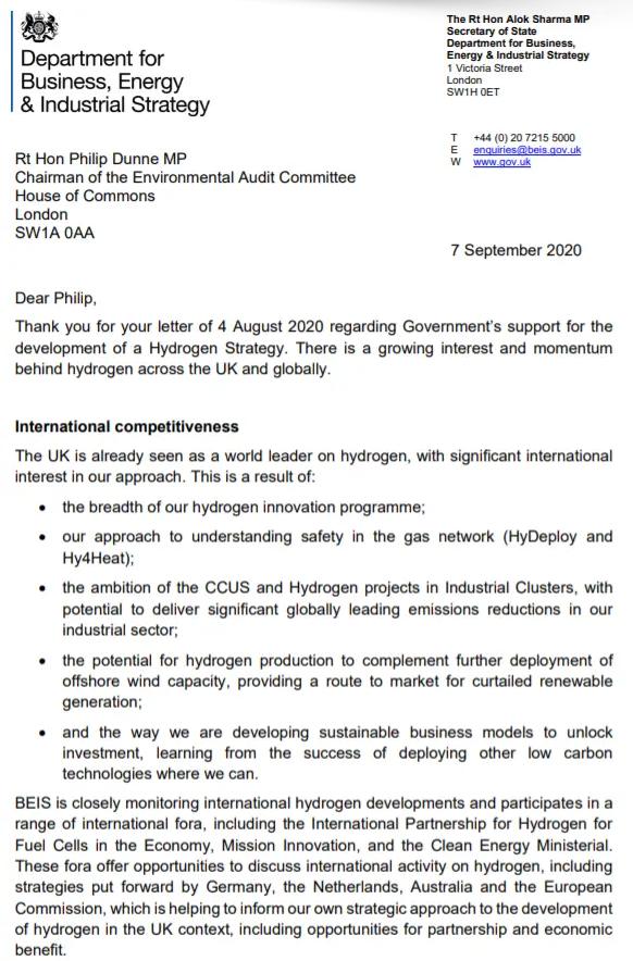 Business Secretary Letter