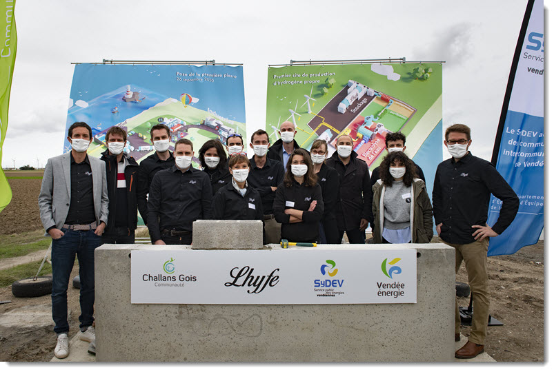 Lhyfe Hydrogen Laid Foundation Stone for its Renewable Green Hydrogen Production Plant Main