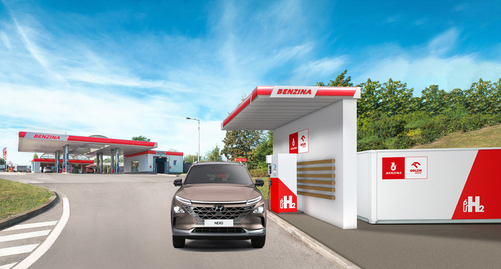 Orlen Hydrogen Station Graphic