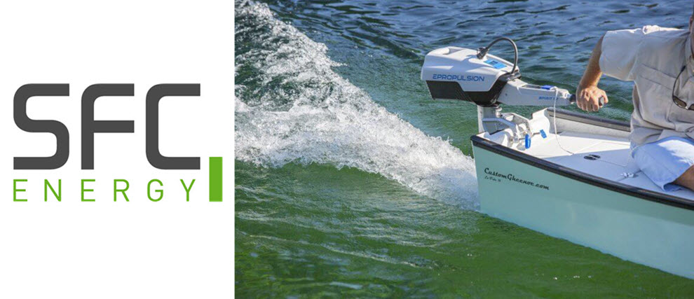 SFC Energy Motor boat propulsion with fuel cells