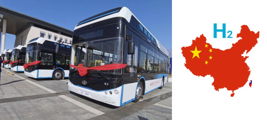 15 Hydrogen Powered Buses go into Service in North East China
