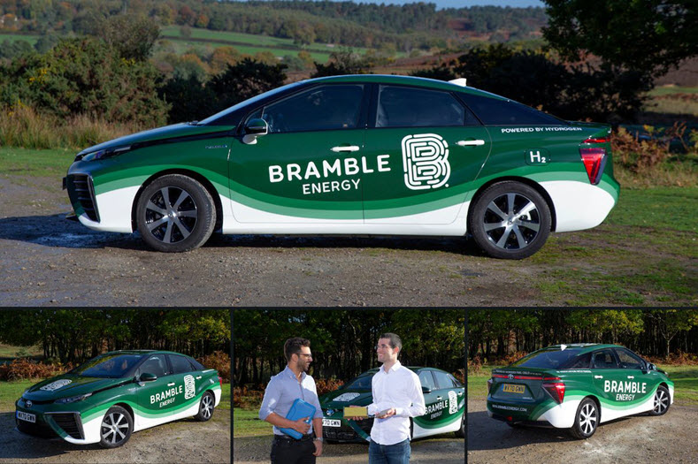 Bramble Energy Receives a Toyota Mirai Hydrogen Fuel Cell Car