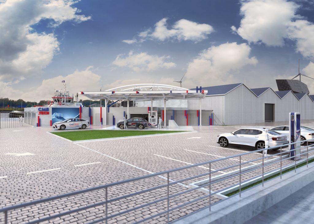 CMB Tech Breaks Ground on Hydrogen Station 2