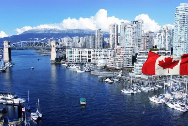 Canada Vancouver Cityscape Skyline Flag