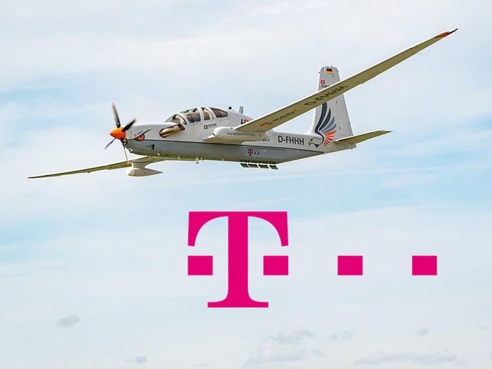 Deutsche Telekom Cellular Communications Service from the Stratosphere Using Hydrogen Fuel Cells
