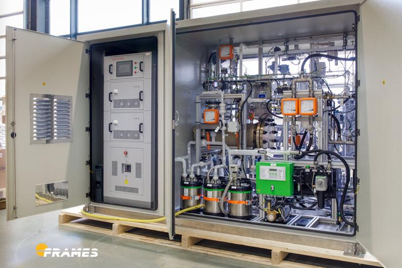 Frames 25kW Electrolyzer for Plug Power