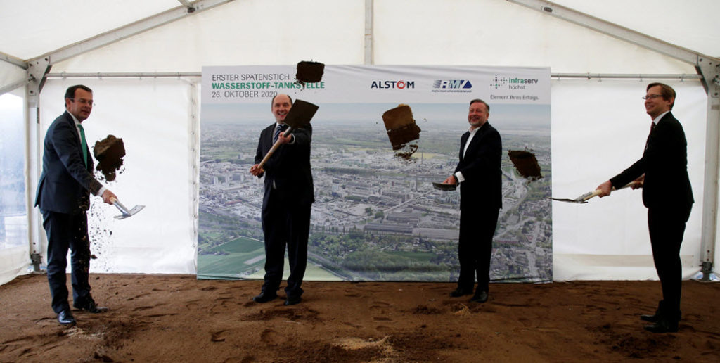 Groundbreaking Ceremony for the First Hydrogen Station for Passenger Trains Held in Hessen Main