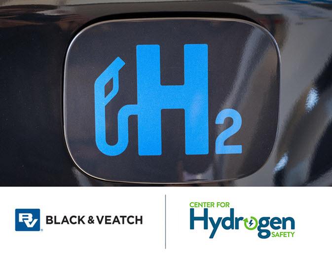 Hydrogen Fuel Safety Black and V