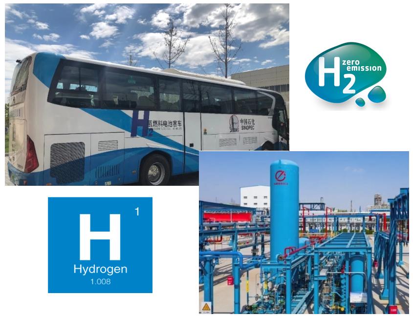 Hydrogen fuel cell bus in Yanshan Petrochemical Park
