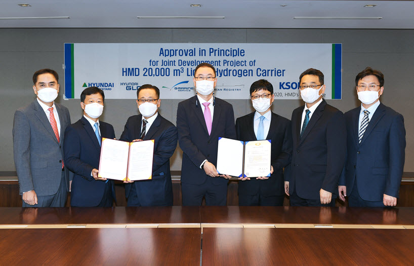 Hyundai Heavy Industries Group Korea Shipbuilding Marine Engineering and Hyundai Mipo Advance the Era of Hydrogen Carriers 1