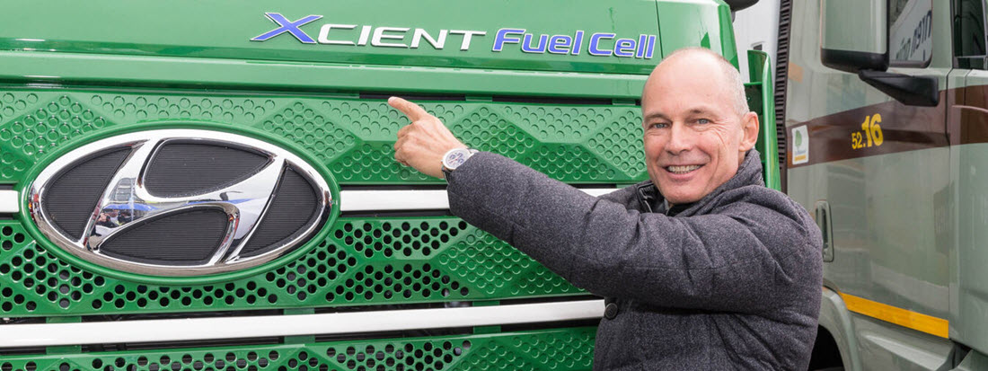 Hyundai Today Delivered the First Seven Units of its XCIENT Fuel Cell Truck 1 1