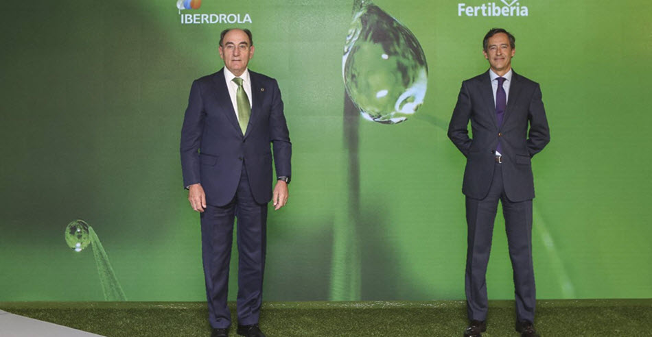 Iberdrola and Fertiberia Join Forces to Promote Green Hydrogen in Spain