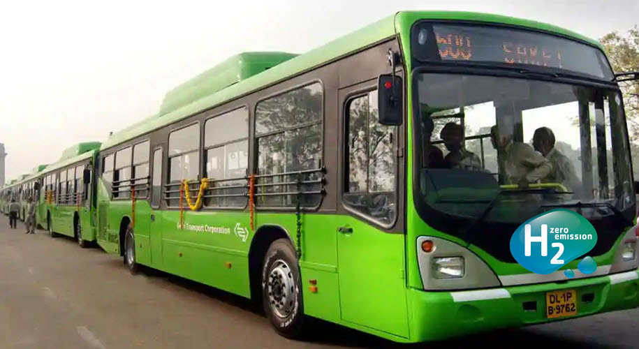 IndiaShri Pradhan Inaugurates H CNG Plant and Launches Trials in Delhi of 50 Hydrogen Powered Buses