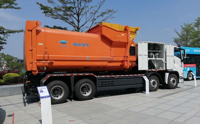 Kaiwo Hydrogen Fuel Cell Refuse Truck Unveiled 2 1