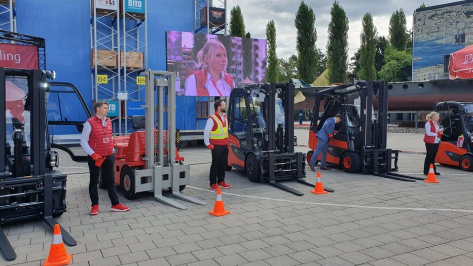 Linde Material Handling Shows the First Fuel Cell Hydrogen Forklift main