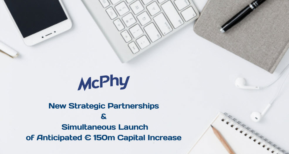 McPhy Announces New Strategic Partnerships