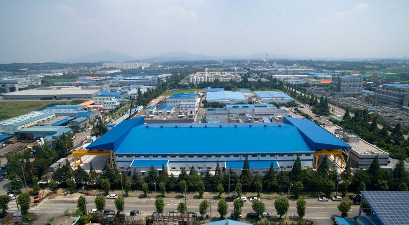 Panoramic view of Doosan Fuel Cells Iksan plant located in Iksan Jeollabuk do
