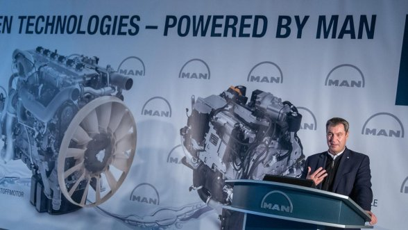 Prime Minister Markus Soder Visit to Nuremberg to support MAN in its Hydrogen Offensive