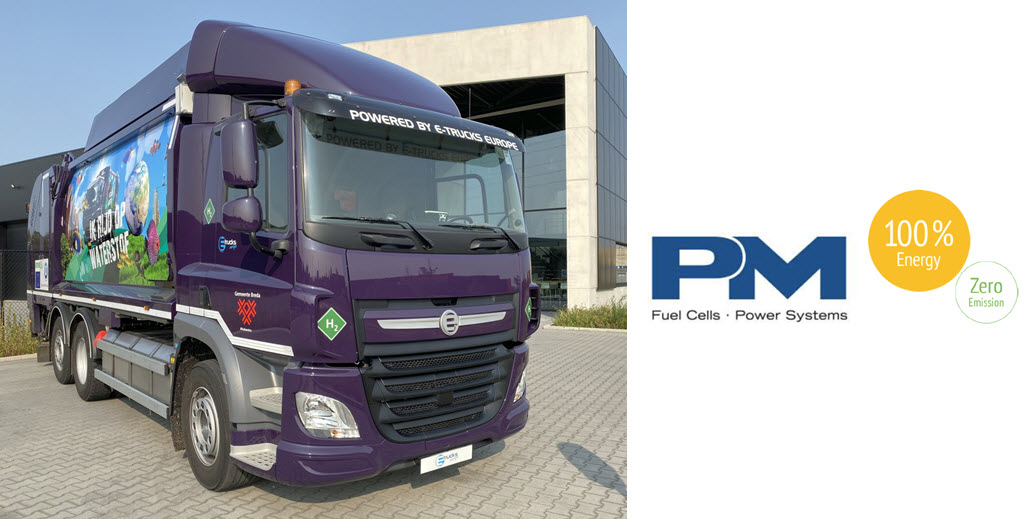 Proton Motor HyRange system equips new refuse collection vehicle from E Trucks Europe