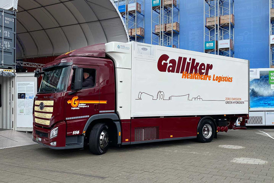 Swiss Transport Company Galliker Transport AG Receives its First Hyundai XCIENT Fuel Cell truck