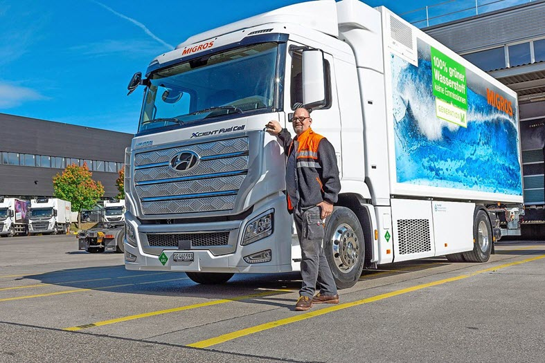 The First Hydrogen Truck has Arrived in Gossau