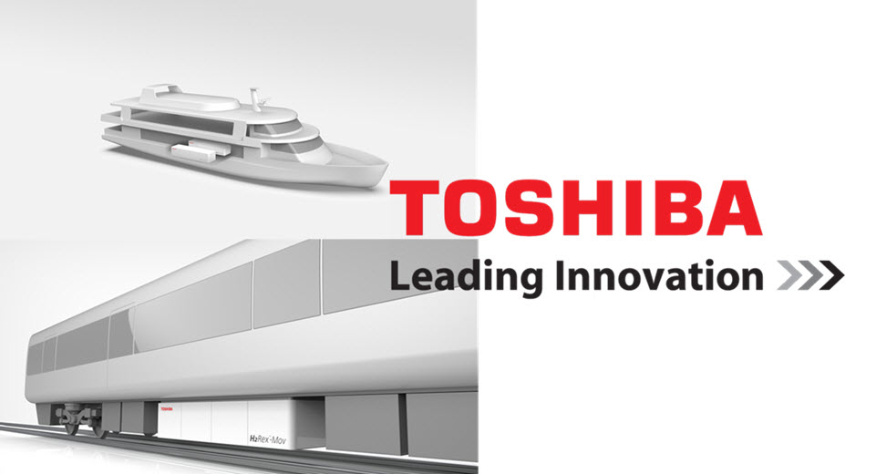 Toshiba Fuel Cells for Trains and Boats