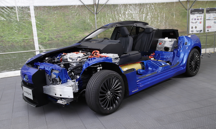 2021 Toyota Mirai cutaway