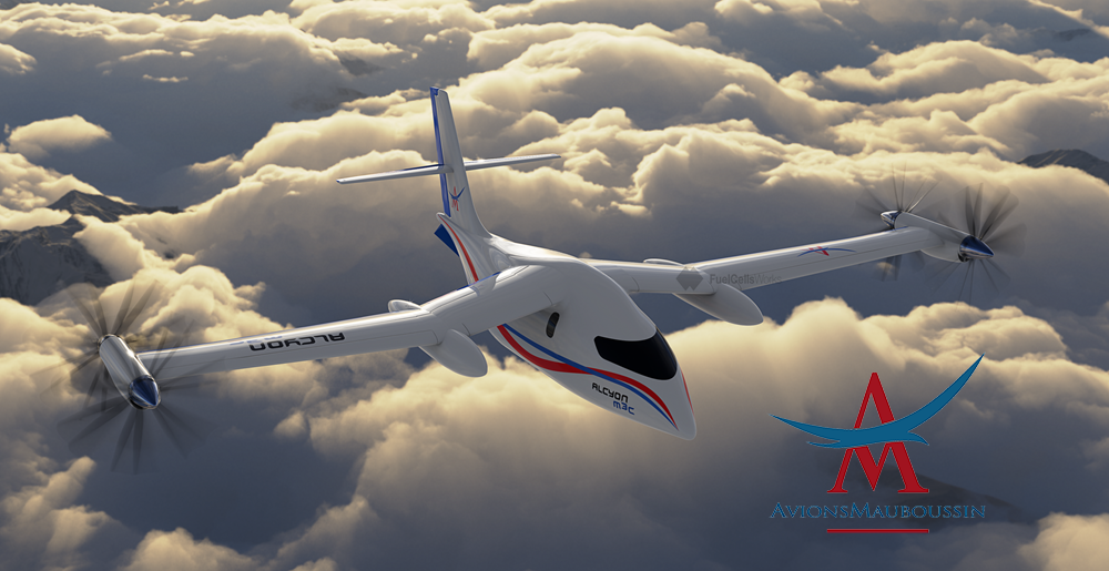 Avions Mauboussin Alcyon M3c Over the Clouds 2