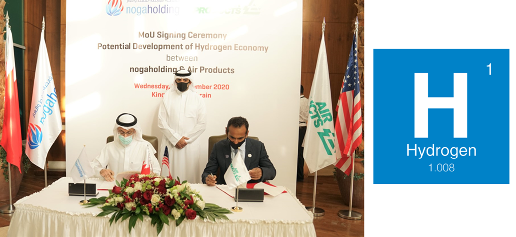 Bahrains Oil and Gas Holding Company Signs MOU with Air Products on Developing Hydrogen Economy