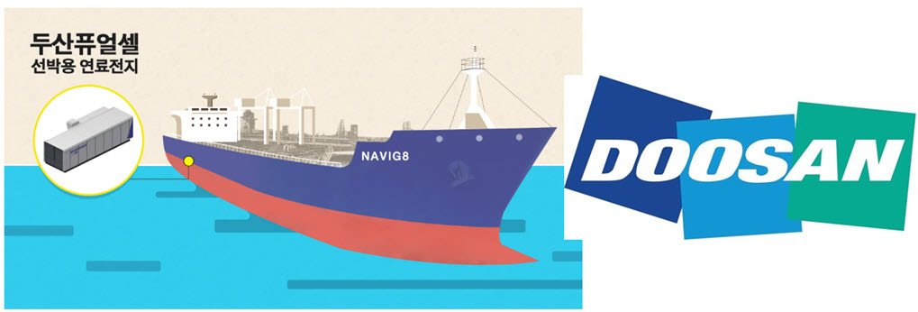 Doosan and Navig8 to Develop Fuel Cells for Ships