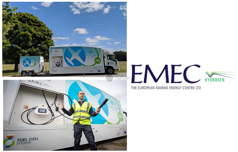 EMEC Mobile Hydrogen Refuelling Solutions Powers Aviation World First