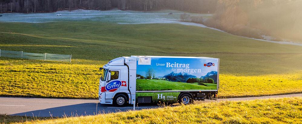 Emmi Tests Hydrogen Fuel Cell Trucks from Hyundai